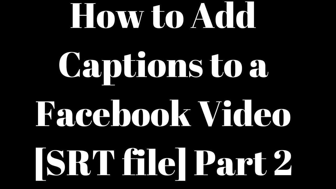 how to add srt file