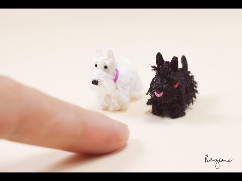 Miniature Scottish Terrier Dog - Tiny Stuffed Dog-Micro Amigurumi Crochet