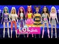 Play Doh Barbie L.O.L Surprise Doll Style Diva Kitty Queen Cosmic Queen Glitter Queen
