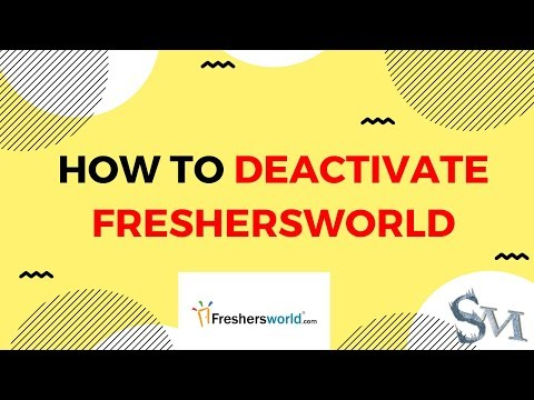 How To Delete Freshersworld Account Easily | 2019 | #SignatureMorons