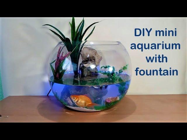 How to make mini Aquarium with waterfall