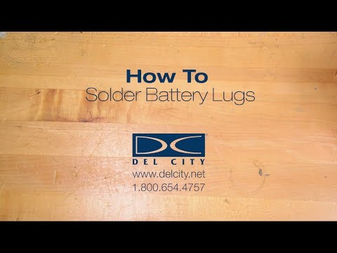 How To Solder Battery Lugs