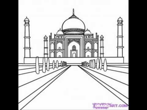 techniques to draw the taj mahal