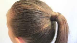 髪の毛を結んだゴムを 髪の毛で隠す方法 1 thumbnail