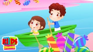 Row Row Row Your Boat Nursery Rhymes And kids Songs - Kids Channel kids videos