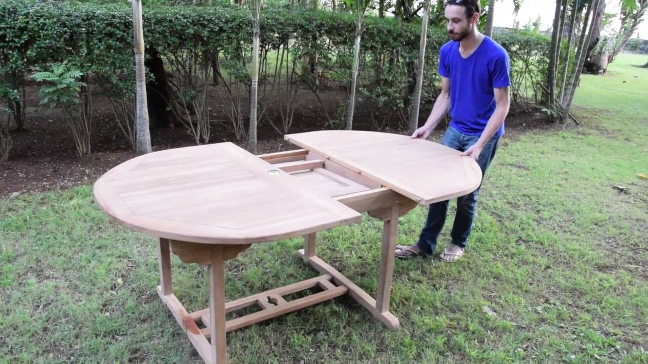 Montage d\'une table extensible en Teck - YouTube