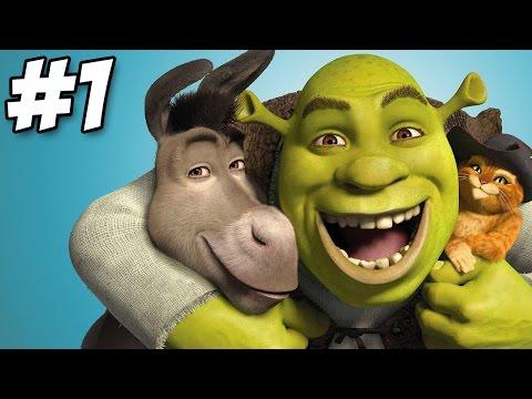 Shrek 2: The Game Walkthrough   Level 1 - Shrek's Swamp   Part 1   PS2 Xbox Gamecube (HD)