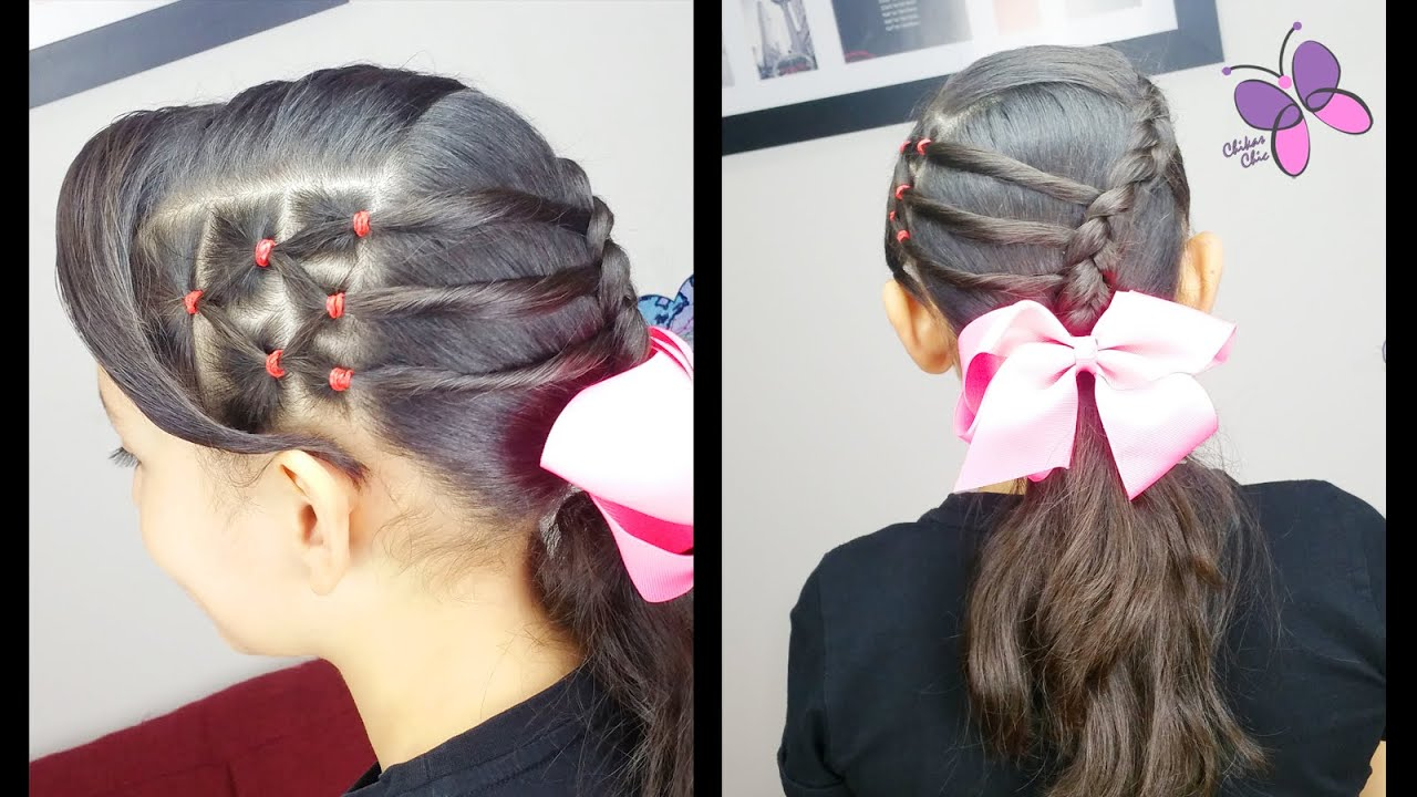 Elastic accented ponytail cute girly hairstyles hairstyles for elastic accented ponytail cute girly hairstyles hairstyles for school braided hairstyles youtube urmus Images