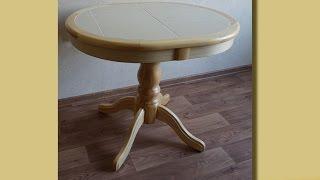 видео Кухонный стол из искусственного камня: раздвижной, овальный, круглый