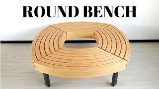 Making a round bench