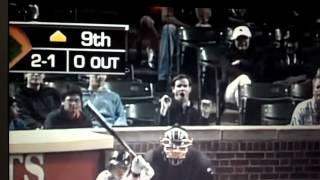 Cubs fan behind home plate