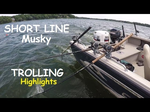 Musky Fishing : Short line Musky Trolling 2017 Highlights