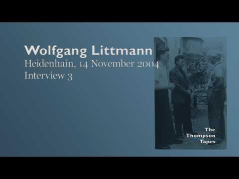 Wolfgang Littmann, 14 November 2004, Heidenhain - Interview 3
