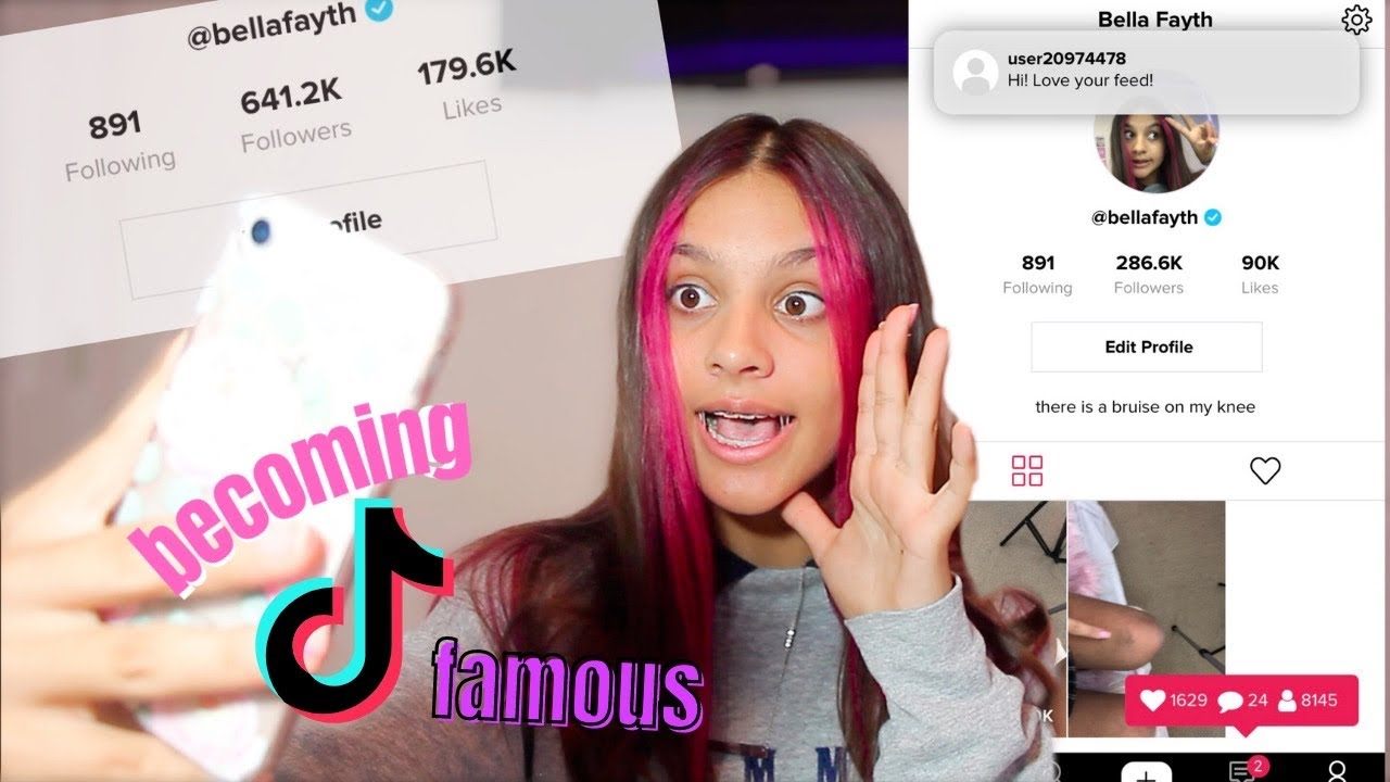 Download BECOMING TIKTOK FAMOUS IN ONE HOUR!! 🤭 well...kinda (what it is like to be famous)  | Bella Fayth