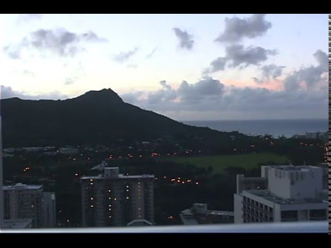 Alpha Wave Series:  Diamond Head Sunrise - Pacific Beach Hotel