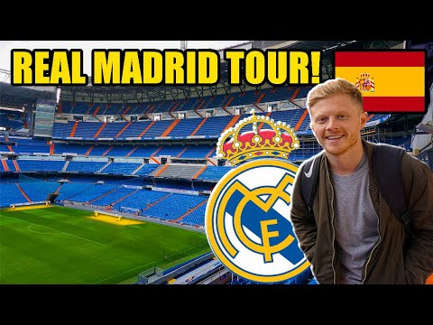 Real Madrid Stadium Tour! Santiago Bernabéu Stadium - Pitch, Museum, Changing Rooms And MORE!