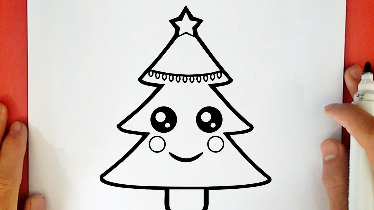 Comment Dessiner Un Sapin De Noël Kawaii