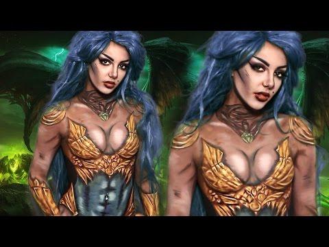 Dark Amazon Warrior Body Paint