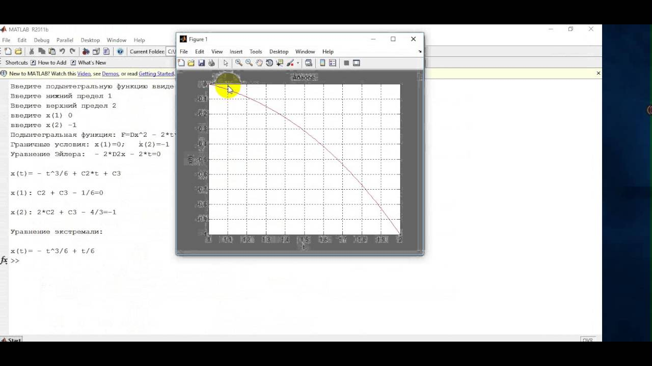 matlab метод эйлера второго порядка