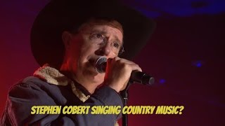 Stephen Colbert performs country music at Songwriters Hall of Fame Dinner
