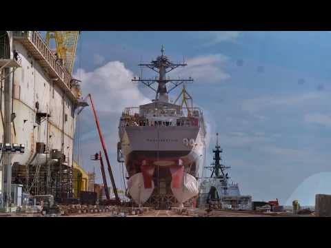 Paul Ignatius (DDG 117)  Translation and Launch Time Lapse