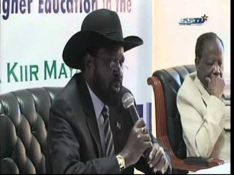 S.Sudan pr.speech at Inauguration of National Council of Higher Education