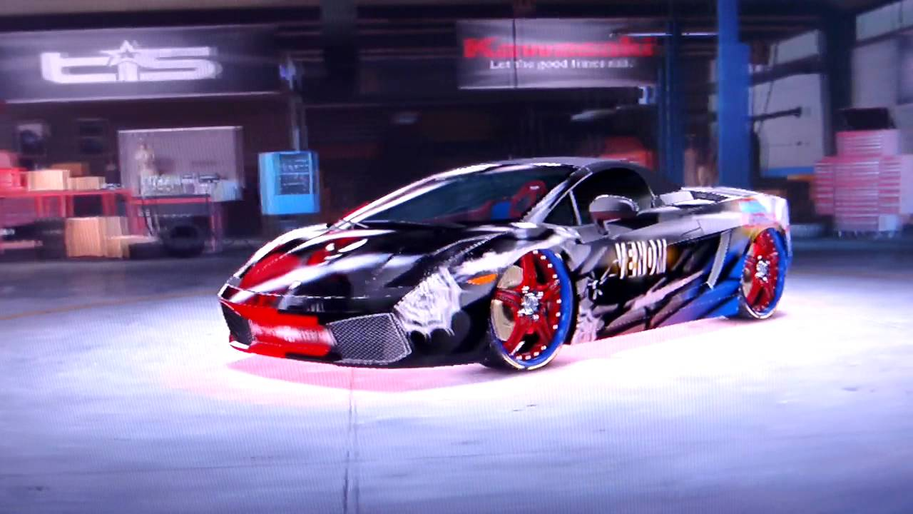 Lamborghini Los Angeles >> Midnight Club Los Angeles - Spiderman vs Venom Lamborghini ...