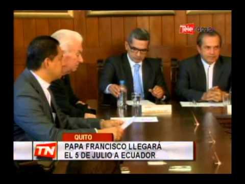 Papa Francisco llegará el 5 de Julio a Ecuador