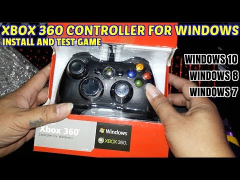 Xbox 360 Controller For Windows 10 Plug And Play.Unbox/Install/Game Test