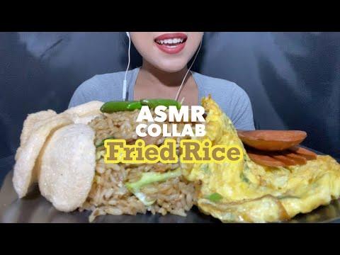 ASMR FRIED RICE (NASI GORENG)   ASMR INDONESIA (VIDEO COLLAB W/ AVID FOODIE AND TRAVELLER)