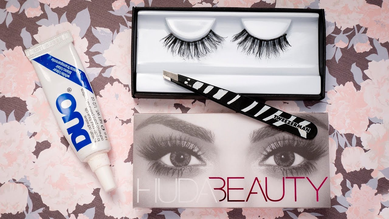 c4665887ad3 Huda Beauty Giselle Eyelashes Try-on, Review & Demo | CORRIE SIDE ...