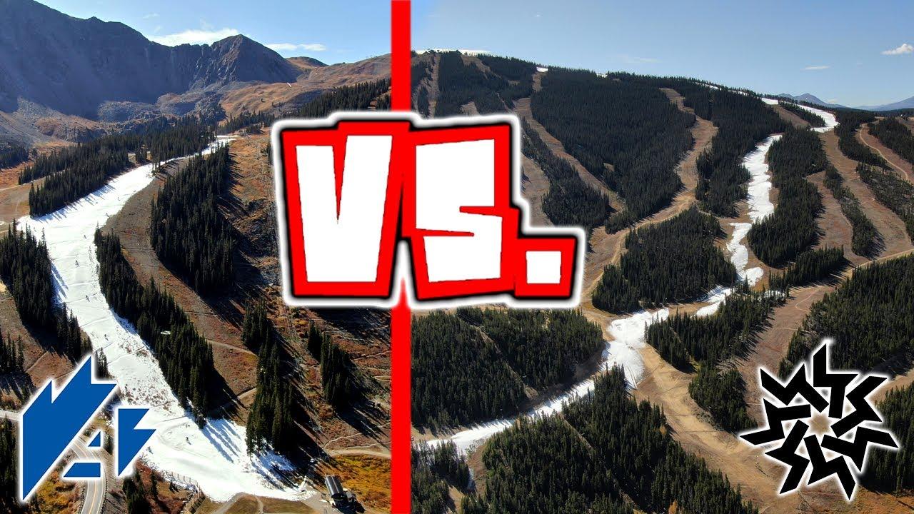 Keystone Opening Day 2020.Keystone Vs A Basin Opening Day 2019 2020 Ski Season Drone Video