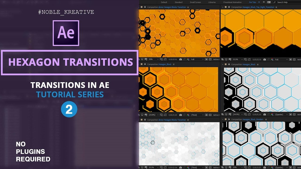 Procedural Hexagon Transitions in After Effects | NoPlugins