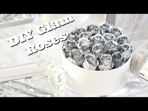 DIY Metallic Roses | Instagram Flowers | How to Spray Paint Artificial Flowers