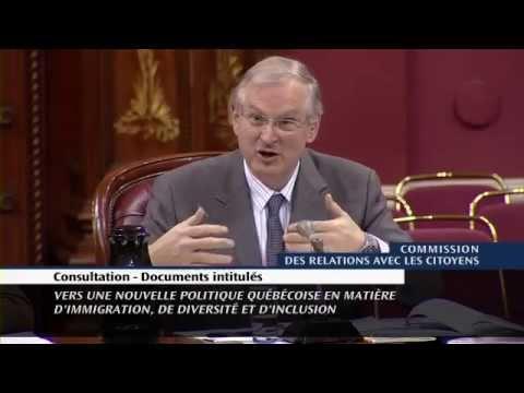 2015, Diversité et discrimination au Québec, Jacques Frémont
