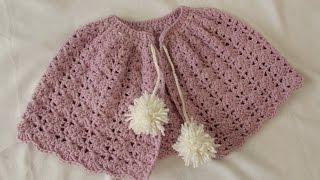 VERY EASY crochet winter shrug / shawl / poncho - any size