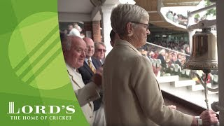 TV Producer Diana Keen rings the 5-minute Bell - England vs Pakistan | MCC/Lord's