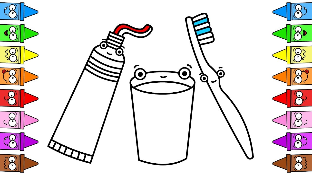coloring page of toothpaste – littapes.com | 720x1280