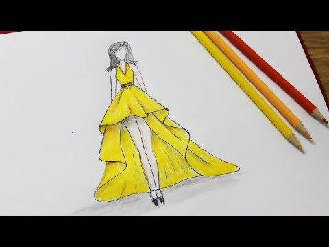 how-to-draw-a-dress-design---dresses-drawing-step-by-step