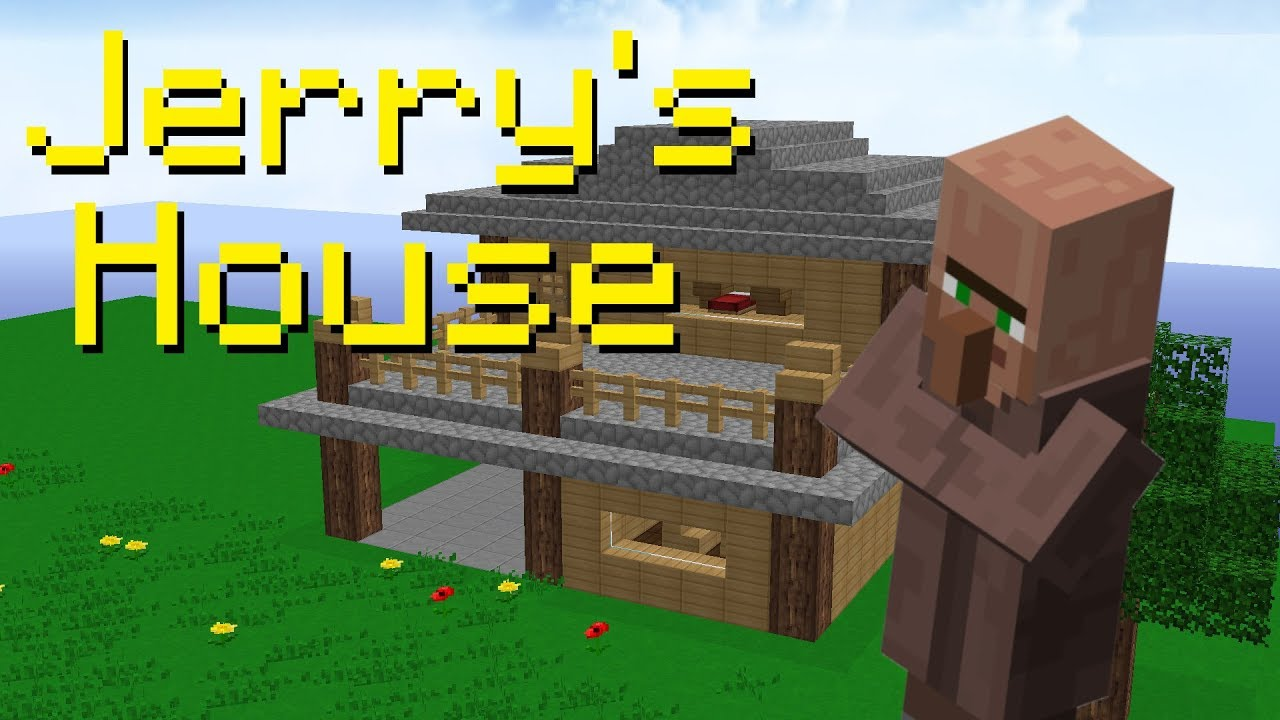 I Built Jerry A House In Skyblock Hypixel Skyblock Youtube