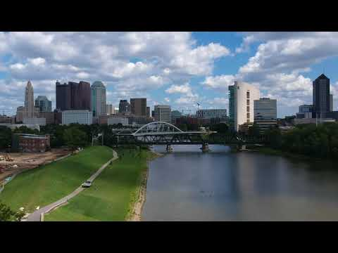 Columbus ohio skyline DJI drone spark footage