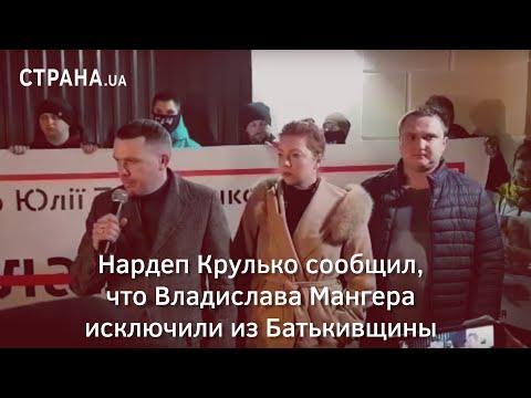 Нардеп Крулько сообщил, что Владислава Мангера исключили из Батькивщины thumbnail