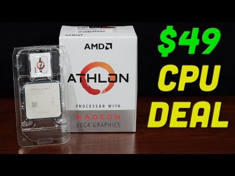$49 CPU — Amazing Performance, Crazy Low Price, & Overclockable !!! — AMD Athlon 3000G Review