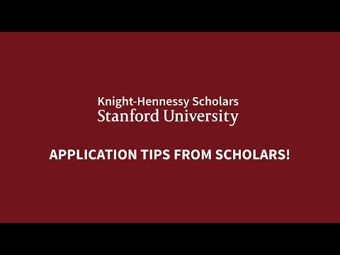 Successful Application Tips from Knight-Hennessy Scholars!