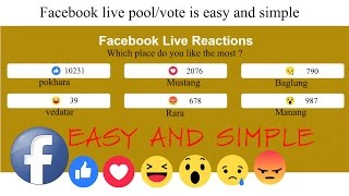 How To Create Live Reactions Poll On Facebook