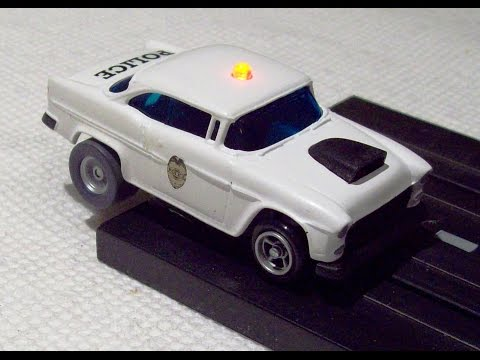Custom AFX '55 Chevy BelAir Police car with flashing LED