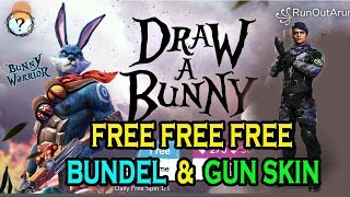 How to get free gun skin and bundles draw a bunny event || Free fire 🔥 tricks and tips|| Run Gaming
