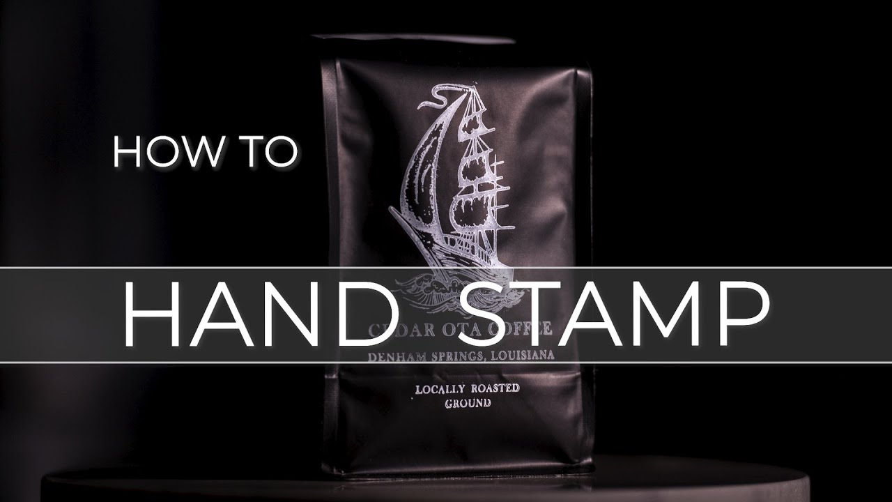 How To Hand Stamp Matte Coffee Bags Stazon Ink Tutorial