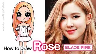 How to Draw Rose | BlackPink Kpop