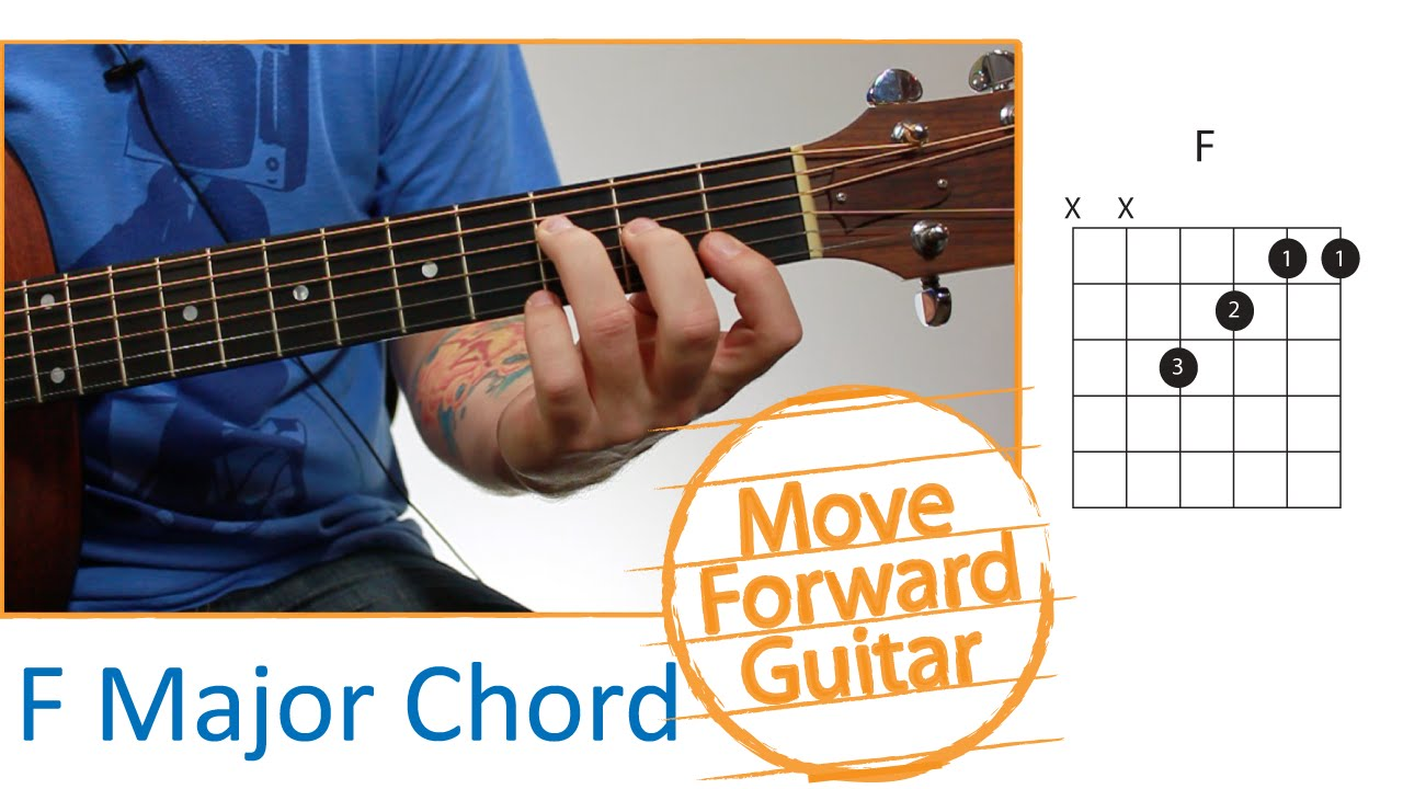 Guitar Chords For Beginners F Major Youtube